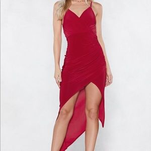 Nasty Gal Burning Up Wrap Dress